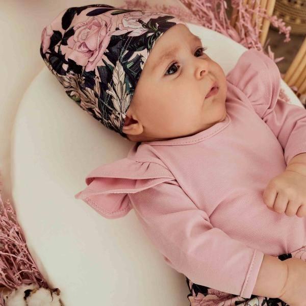 Bilde av Baby Romper & Lue 56/62 - Babyklær - Hey Popinjay - Roses