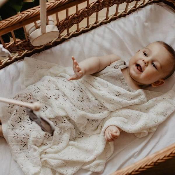 Bilde av Babyteppe - 80x100 - Bambus - MyMemi - Ecru