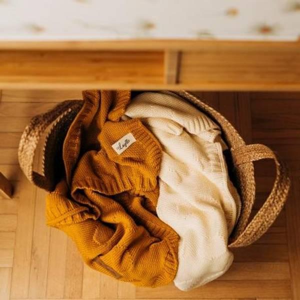 Bilde av Babyteppe - 80x100 - Bambus - Layette - Creme