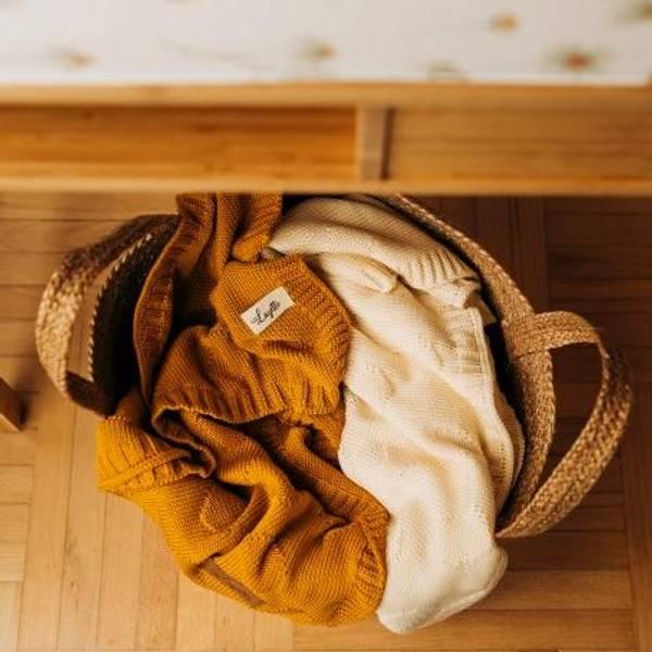 Bilde av Babyteppe - 80x100 - Bambus - Layette - Mustard