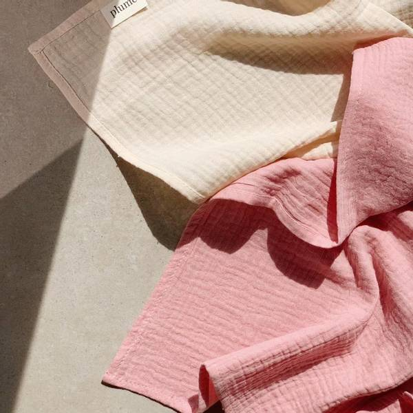 Bilde av Gulpeklut - 65x65 - Musselin - Plume - Candy Pink