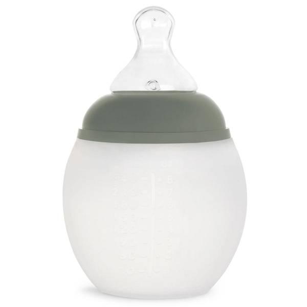 Bilde av Tåteflaske i Silikon - Elhee - 240ml - Khaki
