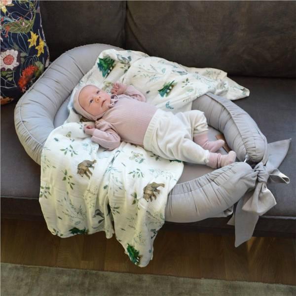 Bilde av Babynest Lin - Babyly - Grå