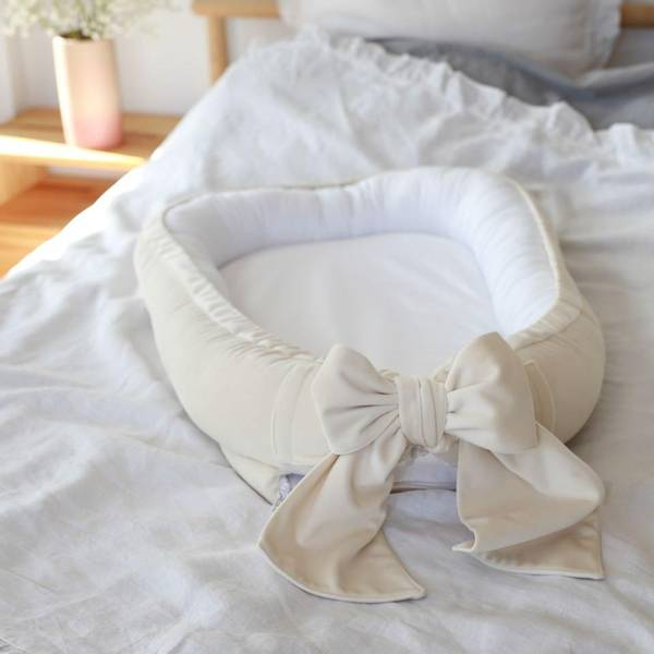 Bilde av Babynest Fløyel - Babyly - Cream