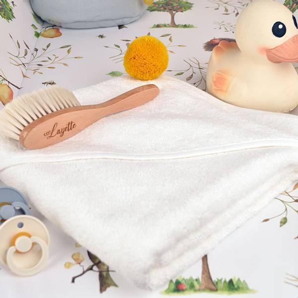 Bilde av Babyhåndkle - 100% Bambus - BimBla - Mustard Dusk