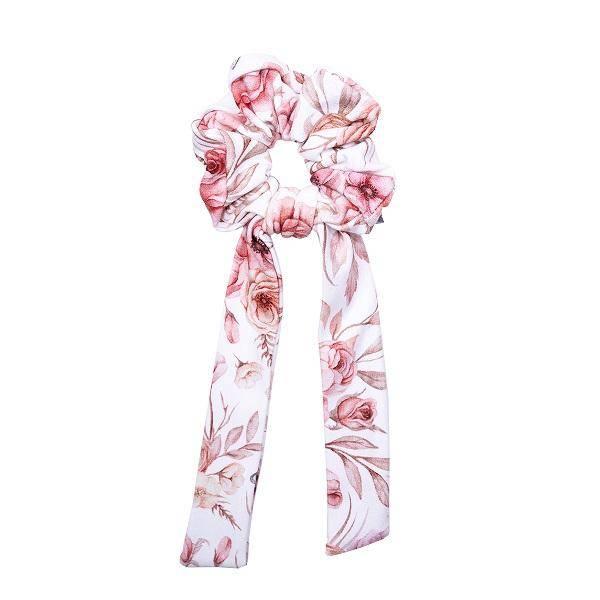 Bilde av Scrunchie med sløyfe - One Size - UL&KA - Romantic Roses