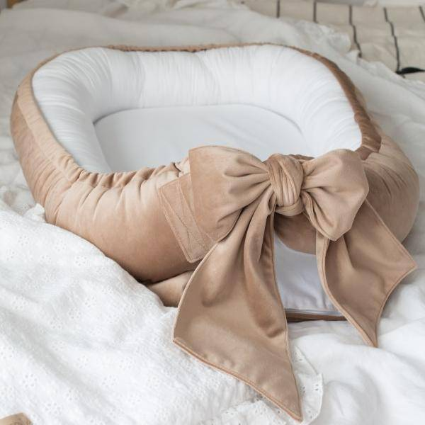 Bilde av Babynest Fløyel - Babyly - Lys Kamel