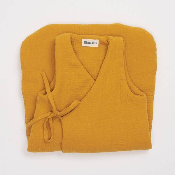 Bilde av Sovepose Baby - Musselinbomull - BimBla - Mustard