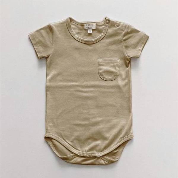 Bilde av Kortermet Body - The Simple Folk - Økologisk Bomull - Sand