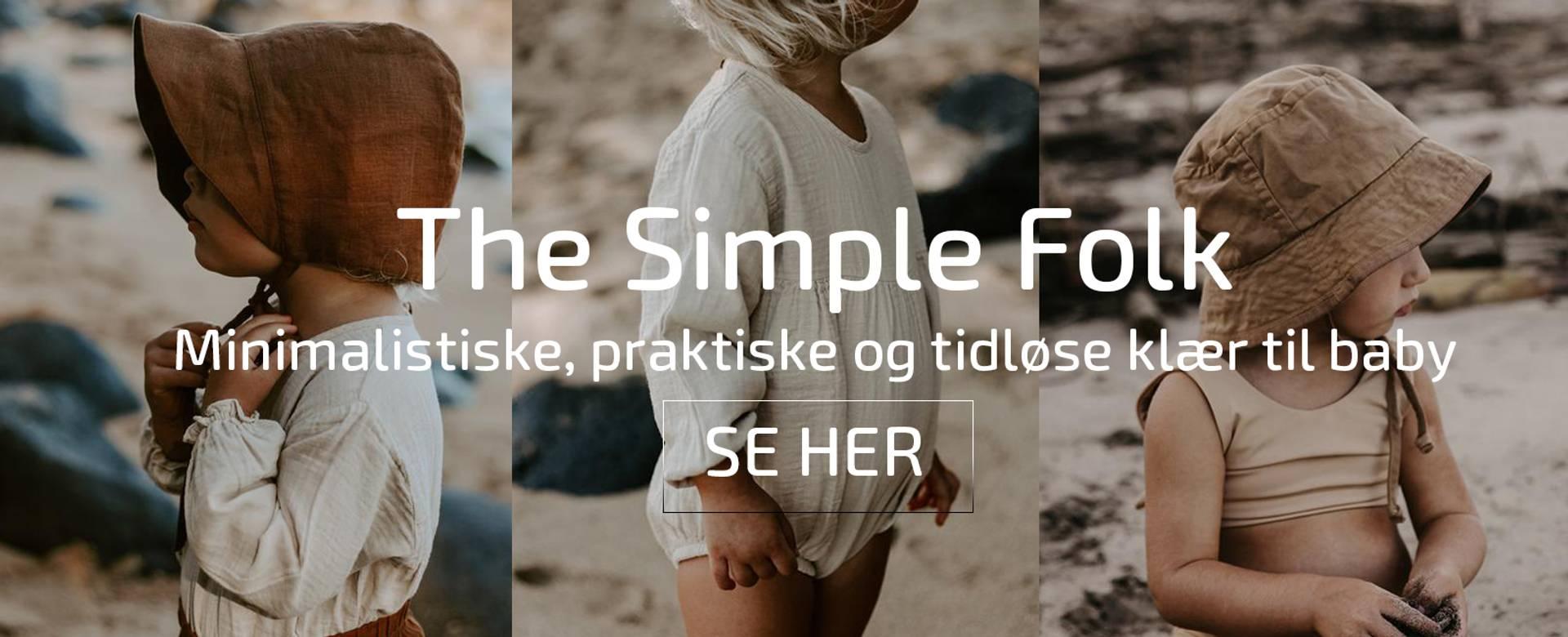 the simple folk babyklær økologisk bomull bloomer romper bonnet solhat sommerhat sommerklær baby
