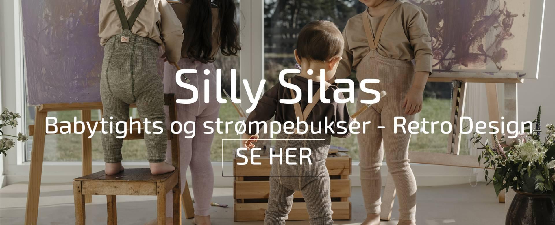 silly silas strømpebukser  babytights rib med sele baby nyfødt