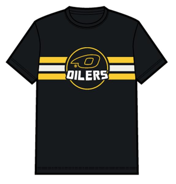 T-skjorte logo og striper - barn