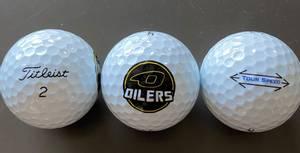 Bilde av Golfball med Oilers logo - Titleist Tour Speed-12