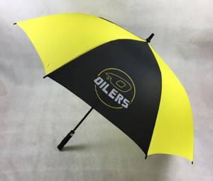 Bilde av Stor Paraply - Sort og Gul med Logo
