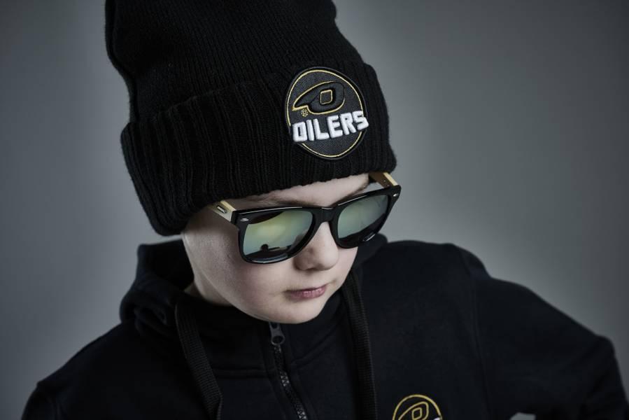 Solbriller med Oilers design