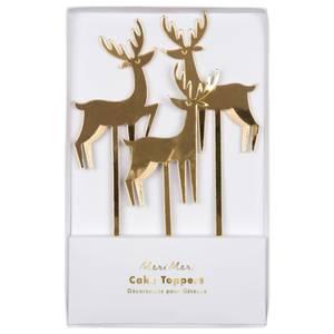 Bilde av Cake toppers Gold Reindeer fra Meri Meri