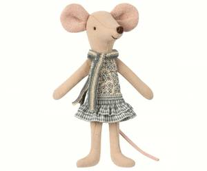 Bilde av Mus - Winter mouse, big sister in bag fra Maileg