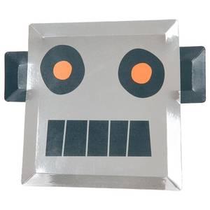 Bilde av Papptallerken robot 8 stk fra Meri Meri