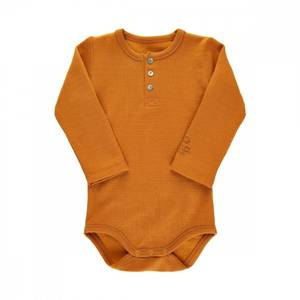 Bilde av Baby gutt ull body sudan brown ensfarget fra Noa Noa