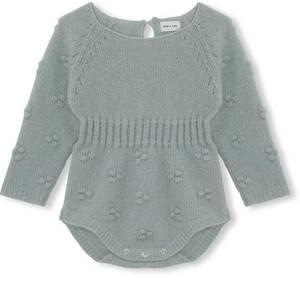 Bilde av Baby jente body Thilde i puritan grey fra Mini A Ture