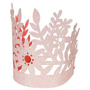 Bilde av Rosa bursdagskroner med glitter, 8 stk fra Meri Meri