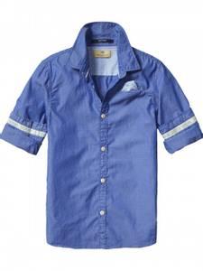 Bilde av Basic blue skjorte fra Scotch Shrunk