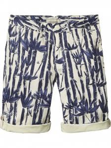 Bilde av Canvas chino shorts med palme motiv fra Scotch Shrunk