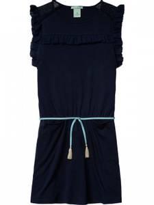 Bilde av Mesh trimmed dress with woven ruffle fra Scotch R\'belle