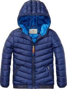 Bilde av Basic padded nylon jacket with hood & elastic tapes at