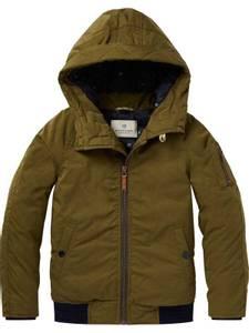 Bilde av Short padded jacket with hood fra Scotch Shrunk