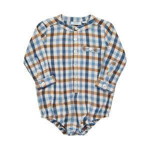 Bilde av Baby gutt skjorte body i estate blue fra Noa Noa