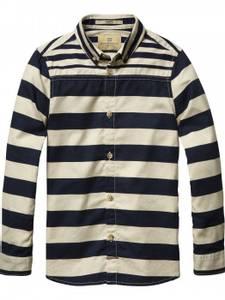 Bilde av Stripet Oxford skjorte fra Scotch Shrunk