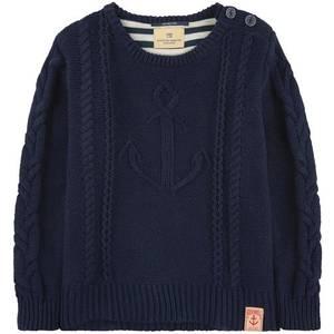 Bilde av Strikket genser med anker i marine fra Scotch Shrunk