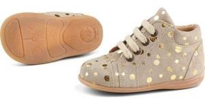 Bilde av Starter sko i gold dots fra pom pom