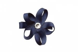 Bilde av Isabell blomsterspenne i navy fra Prinsessefin