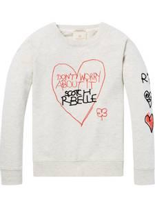 Bilde av Text Artwork Sweater fra Scotch R'belle