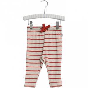 Bilde av Baby basic bukser stripete Nicklas paprika fra Wheat