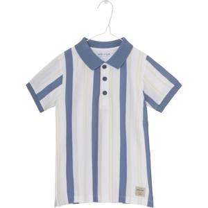 Bilde av Gutt polo t-shirt Nikolaj blue horizon fra Mini A Ture
