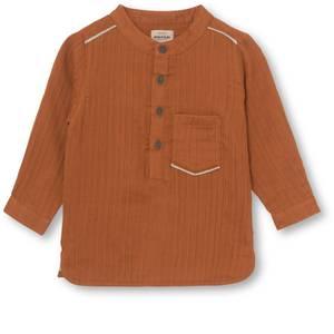 Bilde av Baby skjorte Lai i leather brown fra Mini A Ture