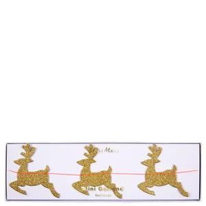 Bilde av Leaping Gold Reindeer Mini Garland fra Meri Meri