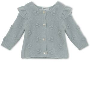 Bilde av Baby jente cardigan Nicoline i puritan grey fra Mini A Ture
