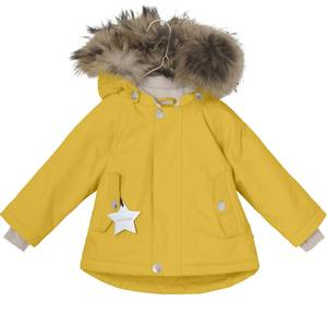 Bilde av  Wally vinterjakke med pels i Bamboo Yellow fra Mini A Ture