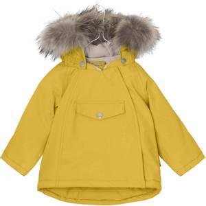 Bilde av  Wang vinterjakke med pels i Bamboo Yellow fra Mini A Ture