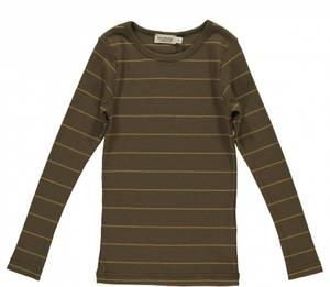 Bilde av Basic t-shirt Tani i Golden Olive Stripe fra MarMar