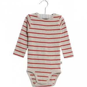 Bilde av Baby basic body stripete i paprika fra Wheat