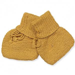 Bilde av Baby strikket alpaca wool sokkesko curry fra Huttelihut