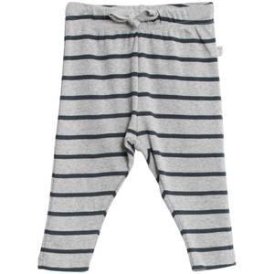 Bilde av Baby basic bukser stripete i farge melange grey navy fra