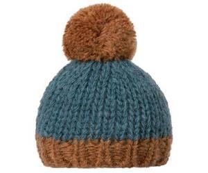 Bilde av Best Friends knitted hat 1 pompom Petrol brown fra Maileg