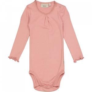 Bilde av Baby jente body rib lace i rosie fra Wheat