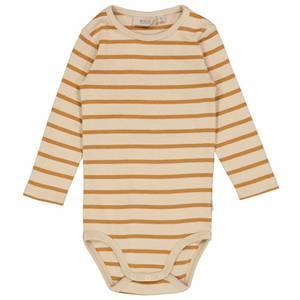 Bilde av Baby basic body stripete i almond fra Wheat